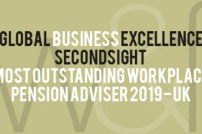 Secondsight awarded Most Outstanding Workplace Pension Adviser 2019