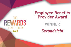 Secondsight win Employee Benefits Provider Award